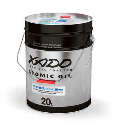Atomic Oil 15W-40 SJ/CG-4 Silver
